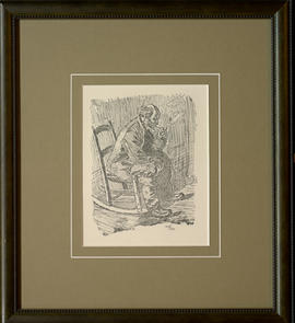 Man, seated with pipe,  103/190