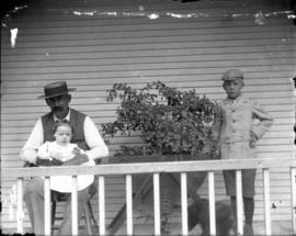 Family posing on Porch