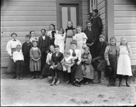 Group of Children posing Outside