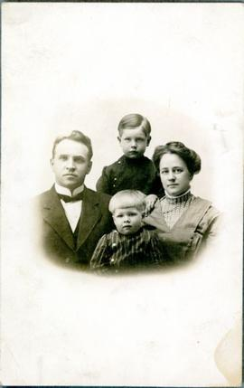 Portrait of Mr. and Mrs. G.H. Skinner with Two Boys