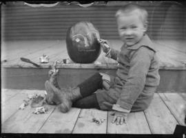 Boy with Halloween Pumpkin, pose 1