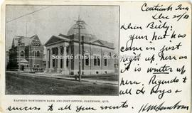 Eastern Townships Bank and Post Office, Coaticook, Que.