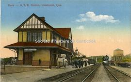 Gare, G.T.R. Station, Coaticook, Que.