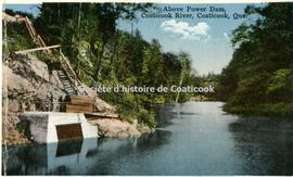 Above Power Dam, Coaticook River, Coaticook, Que.