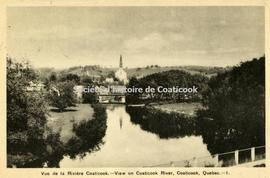 Vue de la Rivière Coaticook-View on Coaticook River, Coaticook, Quebec