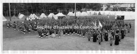 Coaticook Zouaves in camp