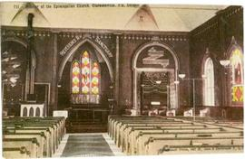 Interior of the Episcopalian Church, Clarenceville, P.Q., Canada
