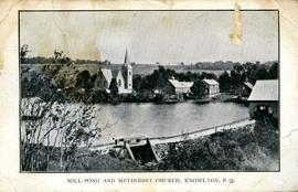 Mill-Pond and Methodist Church, Knowlton