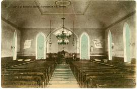 Interior of Methodist Church, Clarenceville, P.Q., Canada