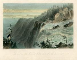 Scene from the Summit of the fall of Montmorenci [sic]