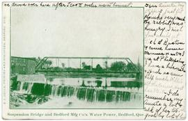 Suspension Bridge and Bedford Mfg Co.'s Water Power, Bedford, Que.