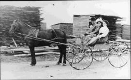 Joseph Labarre with horse and wagon
