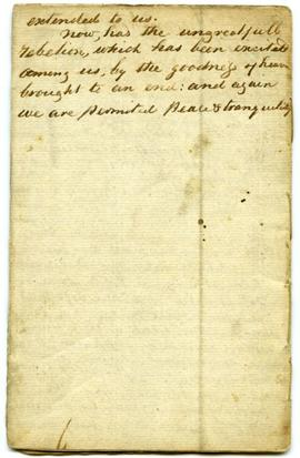 Last page of Memorandums for 1837