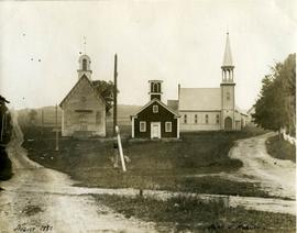 Georgeville churches and schoolhouse