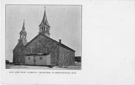 Old and New Catholic Churches, Clarenceville, Que.