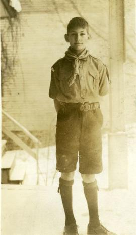 Robert Eardley-Wilmot in scout uniform