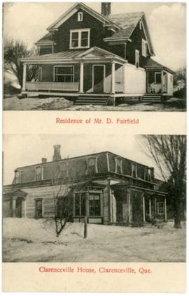 Residence of Mr. D. Fairfield and Clarenceville House,  Clarenceville, Que.