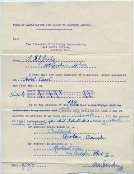 Application for leave, A. Jenks