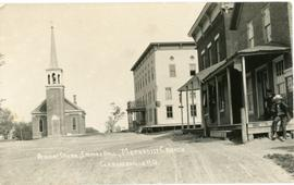 Derick Store, Empire Hall, Methodist Church, Clarenceville, P.Q.
