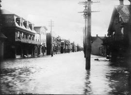 Richmond flood, empty street
