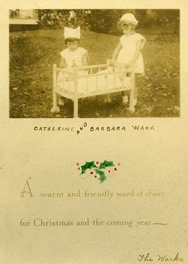 Barbara and Catherine, Christmas card