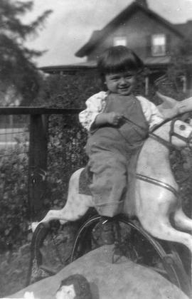 Young Child on Rocking Horse