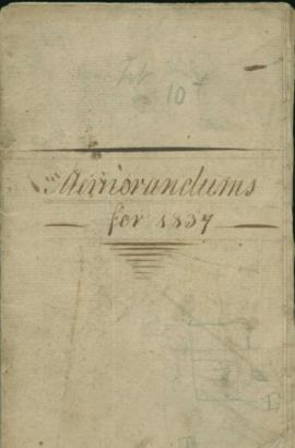 Memorandums for 1837