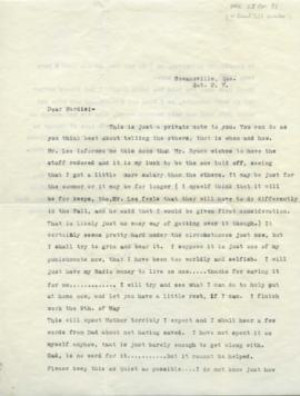 Letter, Doris Bridgette to Mardie