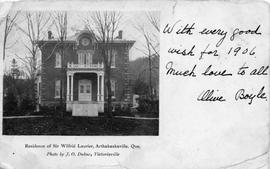 Residence of Sir Wilfrid Laurier, Arthabaskaville, Que.