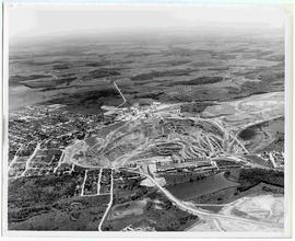 Aerial view of Johns-Manville open-pit mine