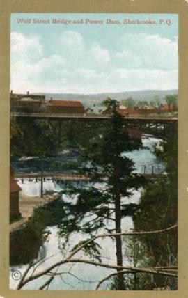 Wolf Stret Bridge and Power Dam, Sherbrooke, P.Q.
