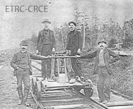 Railway section crew in Sawyerville