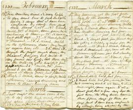 Memorandums for 1837, February and March