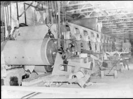 Construction of Machine No. 4 at the factory