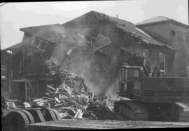 Demolition of police and fire station