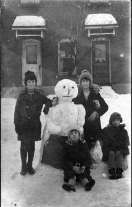 Group with a Snowman