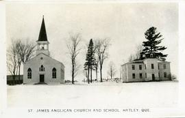 St. James Anglican Church and School, Hatley, Que.