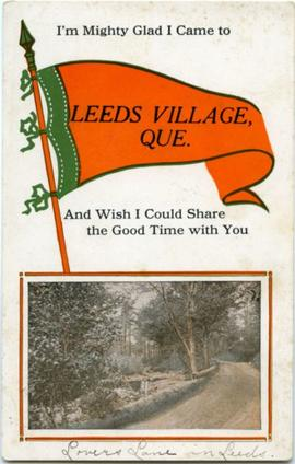 I'm mighty glad I came to Leeds Village, Que.