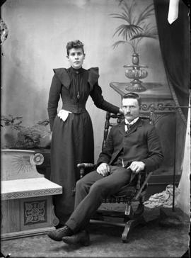 Studio portrait of a young couple