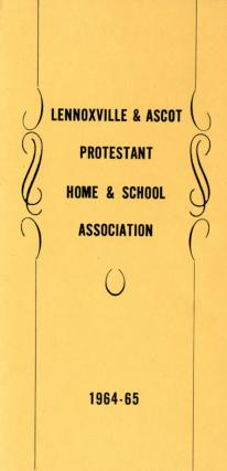 Lennoxville and Ascot Protestant Home and School Association programme
