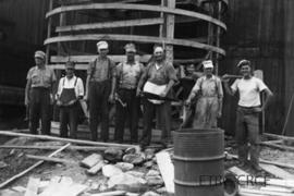 Building Ray Waldron's Silo - Everett Young, Everett Blair, Garnet Williams, Gordon French, Ray W...