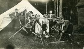 Boy Scouts Church of Advent group in camp