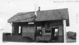 Clifton train station on the Maine Central Railroad line