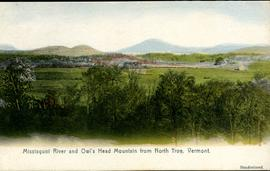 Missisquoi River and Owl's Head Mountain from North Troy, Vermont.