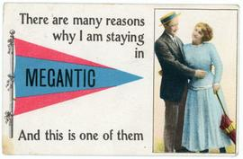 Megantic tourist postcard