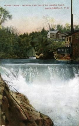Moore Carpet Factory and Falls on Magog River