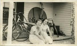 Joyce Marshall with friend