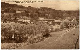 Rock Island, Quebec and Derby Line, Vermont from Plain Hill, 1911
