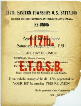 Reunion poster, 117th E.T. Battalion