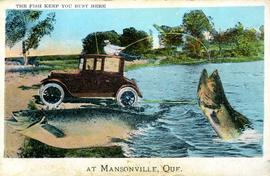 The Fish Keep You Busy Here at Mansonville, Que.